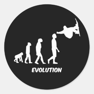 Evolution Skateboarding Runder Aufkleber