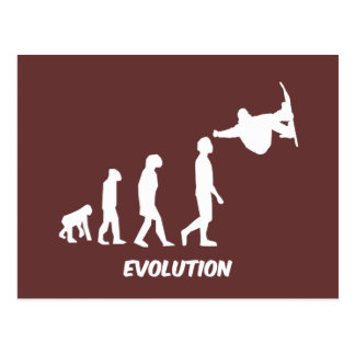 Evolution Skateboarding Postkarte