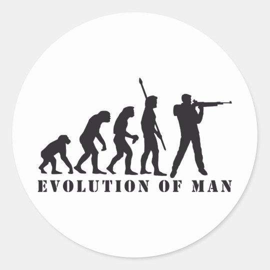 evolution sport shooter runder aufkleber
