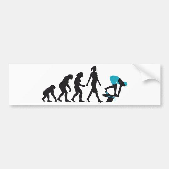 evolution swimmer on startblock autoaufkleber