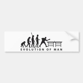 Evolution table tennis B Autoaufkleber