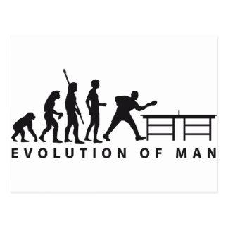 Evolution table tennis B Postkarte