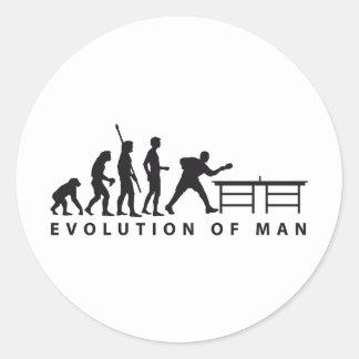 Evolution table tennis B Runder Aufkleber