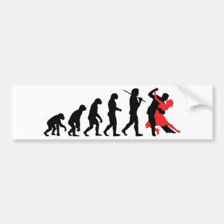 Evolution - Tanzen Autoaufkleber