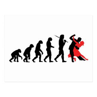 Evolution - Tanzen Postkarte