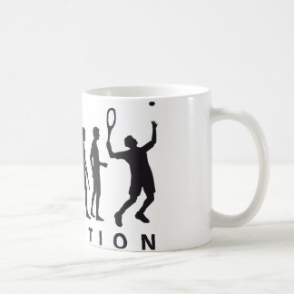 evolution tennis kaffeetasse