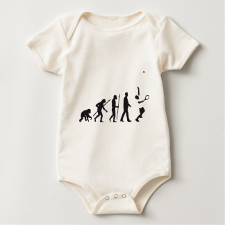 evolution tennis player baby strampler