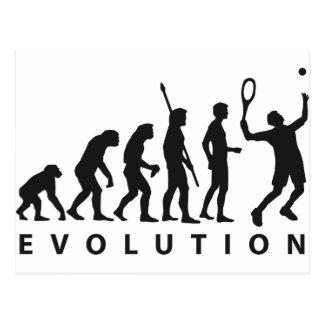 evolution tennis postkarte