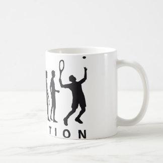 evolution tennis kaffee tasse