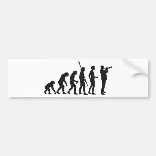 evolution trumpet player autoaufkleber