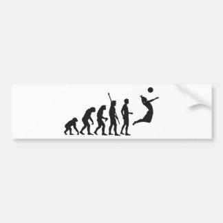 evolution volleyball autoaufkleber