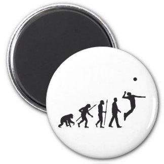 evolution volleyball player runder magnet 5,7 cm