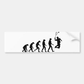 Evolution von Badminton Autoaufkleber