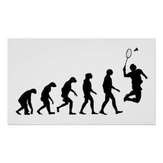 Evolution von Badminton Poster
