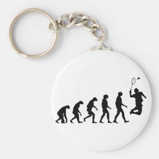 Evolution von Badminton Schlüsselanhänger