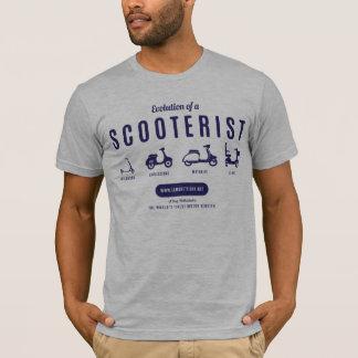 Evolution von einem Scooterist - Marine-Druck T-Shirt