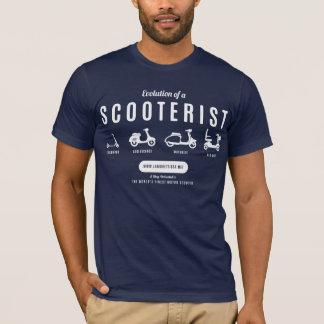 Evolution von einem Scooterist… Weißer Druck T-Shirt