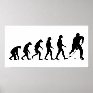 Evolution von Hockey Poster