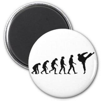 Evolution von Karate Runder Magnet 5,1 Cm