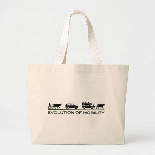 Evolution von Mobilität Tragetasche