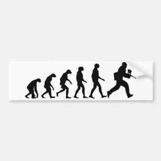 Evolution von Paintball Autoaufkleber
