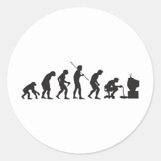 Evolution von Videospiel-SpielGamer Runde Aufkleber