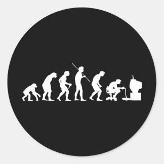 Evolution von Videospiel-SpielGamer Runde Sticker