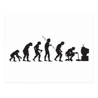 Evolution von Videospiel-SpielGamer Postkarte