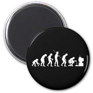 Evolution von Videospiel-SpielGamer Runder Magnet 5,1 Cm