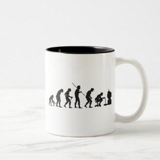 Evolution von Videospiel-SpielGamer Kaffee Tassen