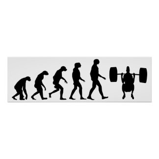 Evolution von Weightlifting Poster