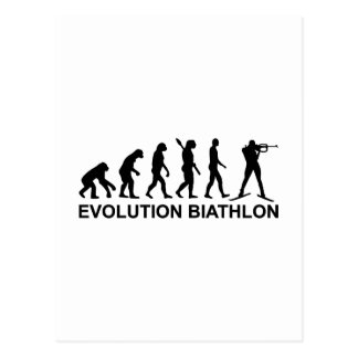 Evolutionbiathlon-Ski Postkarte