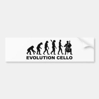 EvolutionCello Autoaufkleber