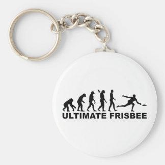 Evolutionentscheidender Frisbee Schlüsselanhänger