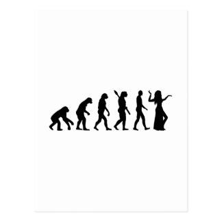 Evolutions-Bauchtanz Postkarte