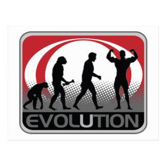 Evolutions-Bodybuilder Postkarte