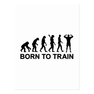 Evolutions-Bodybuilding geboren auszubilden Postkarte