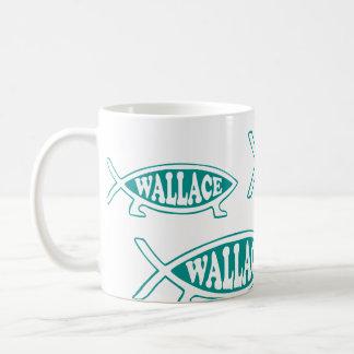 Evolutions-Fische Alfreds Wallace Kaffeetasse