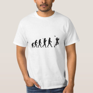 Evolutions-Fußball-lustiger T - Shirt