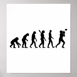 Evolutions-Fußball Plakat