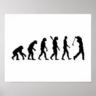 Evolutions-Golf-Spieler Plakatdruck
