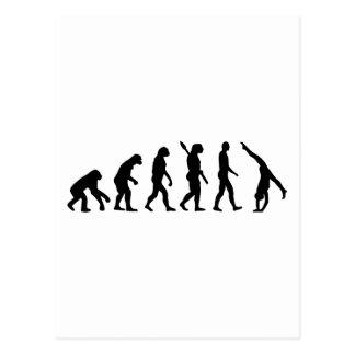 Evolutions-Gymnastik Postkarte