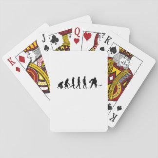 Evolutions-Hockey-Liebhaber-lustige Geschenke Spielkarten