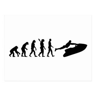 Evolutions-Jet-Ski Postkarte
