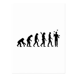 Evolutions-Jonglieren Postkarte