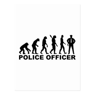 Evolutions-Polizei-Offizier Postkarte