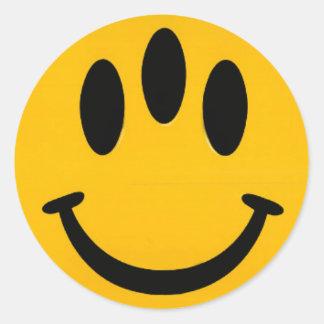 Evolutions-smiley Runder Aufkleber