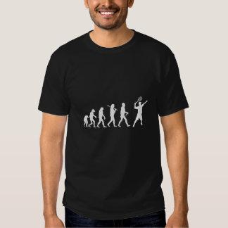 Evolutions-Tennis-lustiges dunkles T-Stück Tshirt