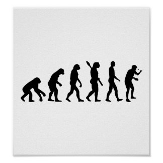 Evolutions-Tischtennis Plakatdrucke