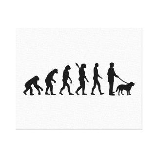 Evolutions-Weg der Hund Gespannter Galeriedruck